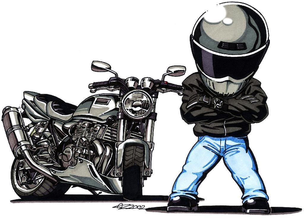 Xjr team xjr art - Dessin de motard ...
